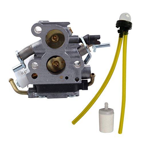 HIPA 506450501 Carburateur et Pompe d'Amorçage Filtre à Essence pour Tronçonneuse Husqvarna 435 435E 440E C1T-EL41