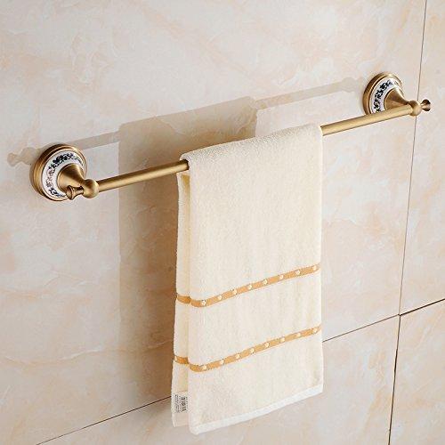 Lhbox tap ottone leva singola salvietta asciugamano antiquariato bar bagno portasciugamani retrò semplice muro del bagno asciugamani, ceramica blu