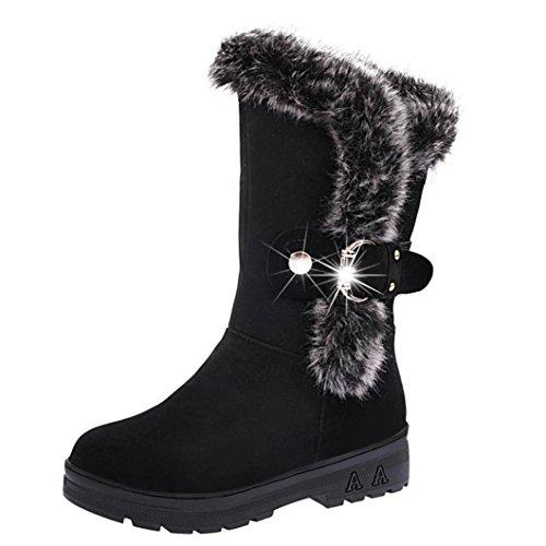 Botas, DoraMe mujer Botas nieve suave y deslizante Botas invierno y pu