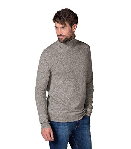 WoolOvers Rollkragenpullover aus reiner Kaschmirwolle für Herren Grey Marl