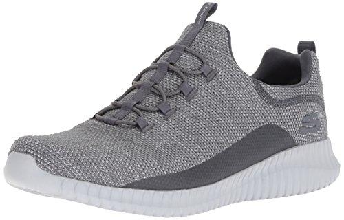 Skechers Herren Elite Flex- Westerfeld Sneaker, Grau Charcoal, 44 EU Skechers Slip-on Sneaker