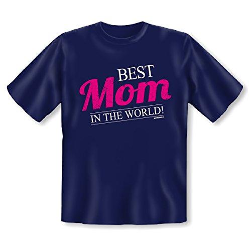 das ideale Geschenk für Best Mom in the World, cooles witziges Geschenk für Sie in der Farbe navy-blau Navy-Blau