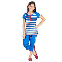 New Darling Girls Blue White Red Night Suit