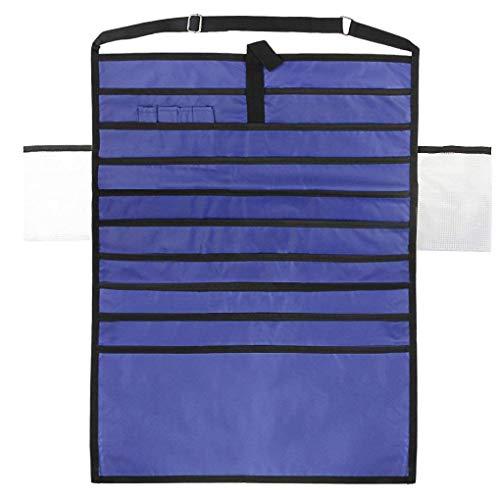 11 Taschen für Tischmontage Hänge Organizer Studenten Klassenzimmer Buch Kugelschreiber-Halter-Beutel-Briefpapier-Speicher-Beutel-Datei ()