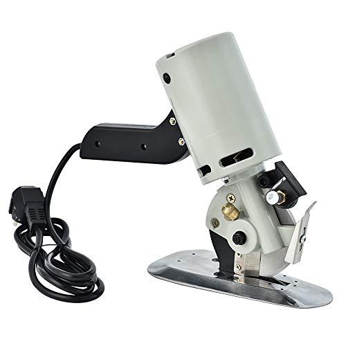 TOPQSC Elektrischer Stoff-Rollschneider, Stoffschneidemaschine, elektrische Schere zum Quilten, Schneidern und Nähen, Kreismesser Klinge Durchmesser 90 MM -