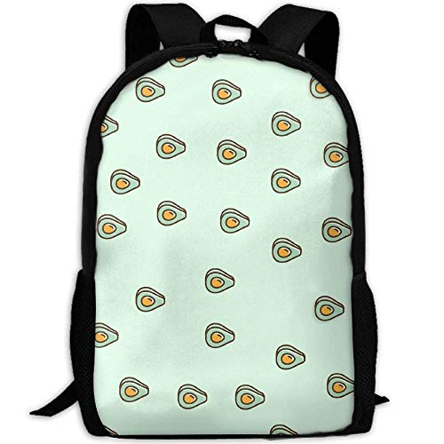 Casual Avocado (TRFashion Avocado Pattern Unisex Custom Backpack School Casual Sports Book Bags Durable Oxford College Laptop Computer Shoulder Bags Lightweight Travel Daypacks Rucksack)
