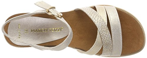 Marco Tozzi Damen 28410 Slingback Sandalen Silber (Platinum Comb)