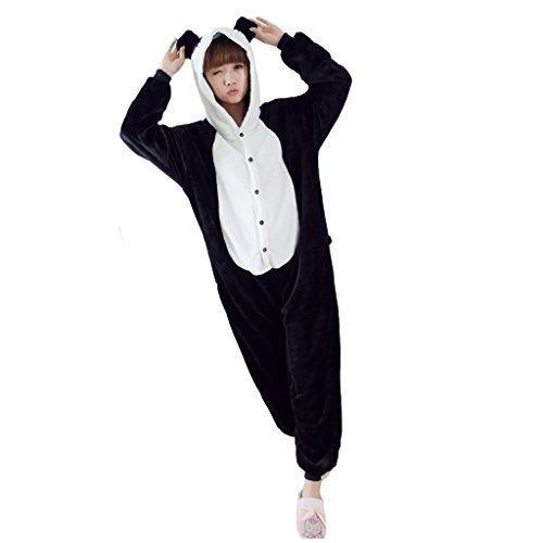 Moolee Animal style kigurumi Pyjama Adulte Anime pyjamas tenue Onesie Cospaly Fête Flannels costume(M, panda)