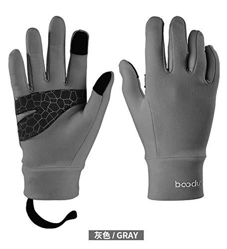 Preisvergleich Produktbild Kinderhandschuhe Rutschfeste warme Dünnschliff-Reitbalance Car Five Fingers Outdoor-Sporthandschuhe Verschiedene Handschuhe (Color : Gray,  Size : L)