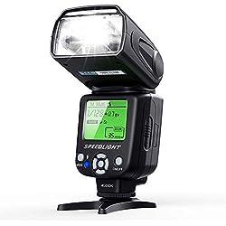 ESDDI Flash Speedlite pour Appareil Photo Canon Nikon Panasonic Olympus Pentax et Autres appareils Photo DSLR avec écran LCD
