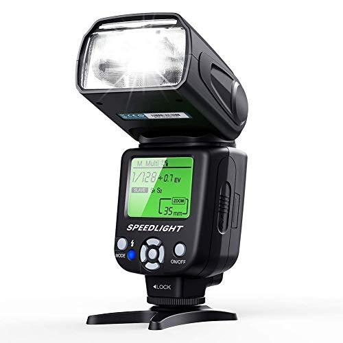 ash Speedlite für Canon Nikon Panasonic Olympus Pentax und andere DSLR Kameras mit LCD Display ()