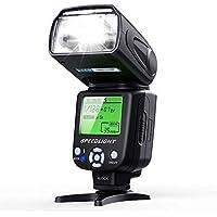 Flash Speedlite ESDDI per Canon Nikon Olympus Pentax e Altre Fotocamere Reflex Digitali con Display a Pannello LCD
