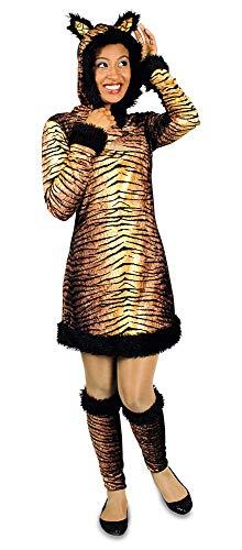 Katzen Kostüm Dschungel - Körner Festartikel Tiger Kostüm für Damen Gr. 36 38