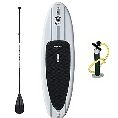 Aufblasbares Board für Stand up Paddling (15 cm dick) inklusive Luftpumpe und Paddel