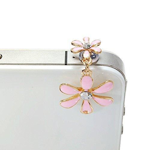 Maviss Diary Dustproof Plug Earphone Jack Accessories//Cell Charms//Dust Plug//Ear Jack for iPhone 5 5S 6 6S// iPad//ipod Touch//Samsung Galaxy//Other 3.5mm Ear Jack 3D Cute Animal Pink Giraffe