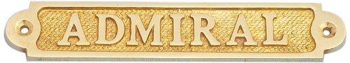 Hampton nautique Laiton massif Admiral Sign, 12,7 cm, Laiton