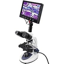 YBB 300DM multifunción digital trinocular microscopio biológico con pantalla LCD de 9, 40x -2500X Magnification