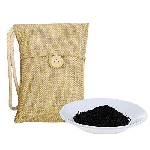 WYXlink 3/5/6Stk Rummershof Bambus Lufterfrischer Natürliche Aktivkohle Geruch Absorber Luft reinigende Tasche (3 Stück)