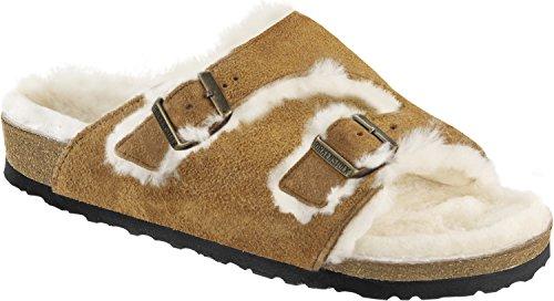 birkenstock-zurich-mink-fell-scarpe-sabot-zoccoli-sandali-camoscio-pelo-38-eu-5-uk-mink