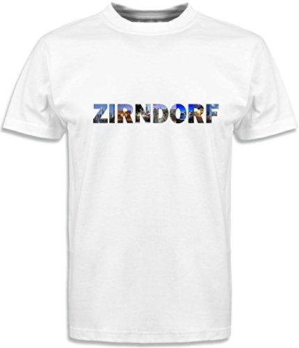 T-Shirt mit Städtenamen Zirndorf Weiß