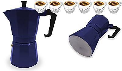 Innova Premium STEAM Stovetop Espresso Maker   Italian Moka, Coffee Percolator, Brewing Pot   Octagonal Design, Aluminium Steel, Insulated Handle   Choose Size and Colour