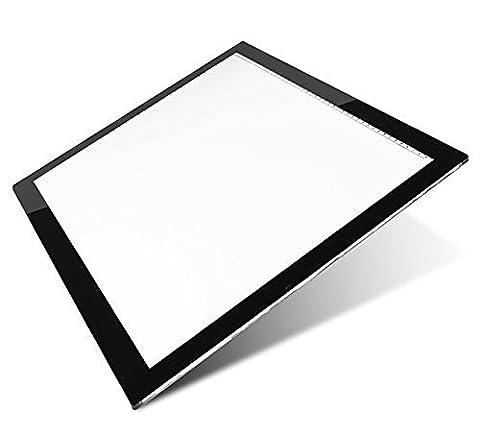 Signstek Tablette de Copie, LED Light Pad, Pad Tablette Lumineuse, Light Box Lumineuse et Réglable (A3)