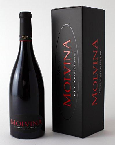 MOLVINA   Ronchi di Brescia Rosso IGP 2012 GOLD   Vino Rosso Pregiato Italiano   Vino rosso intenso. Invecchiato in botti di rovere di Slavonia fino a 60 mesi (1x 0.75 Lt Bottiglia)