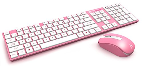Azio HUE 2 Pink Wireless Keyboard & Mouse Combo (KM508-PN) (Azio Maus)