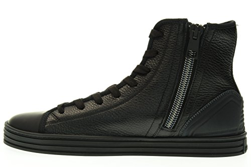 HOGAN REBEL homme baskets haute ZIP HXM1410V440DZX0XCG R141 INTERNE unlined Nero
