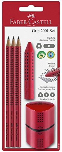 Faber-castell 580022–grip 2001set, 5pezzi, colore: rosso