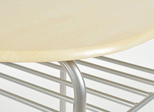 Ts ideen 2820 set 3 pezzi tavolo con 2 sgabelli in alluminio e mdf