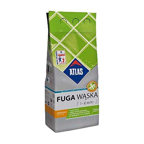 ATLAS Fugenmörtel feinkörniger Zementmörtel zum Füllen von Fugen 1-6 mm Grafit 5 Kg F037