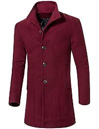 MISSMAO Uomo Classico Sottile Giacca Trench Caloroso Cappotto Invernale  Cappotto di Lana aa10d37b821
