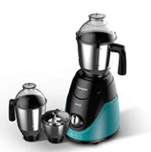 Crompton Ameo 750-Watt Mixer Grinder with MaxiGrind and Motor Vent-X Technology (3 Stainless Steel Jars, Black & Green)