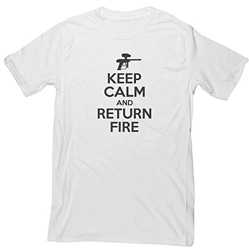 Hippowarehouse Keep Calm and Return fire Unisex Short Sleeve t-Shirt (Specific Size Guide in Description)