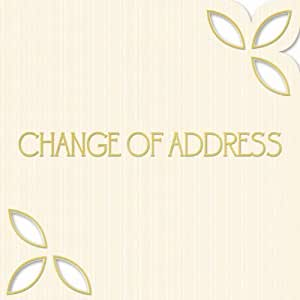 6 CHANGE OF ADDRESS Cards with Envelopes (Cream){H/131B}
