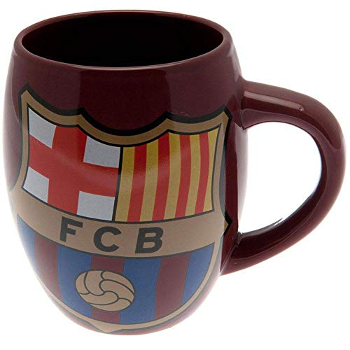 Barcelona FC Blue Red Tea Tub Football Club Crest Fan Gift Boxed Mug Official -