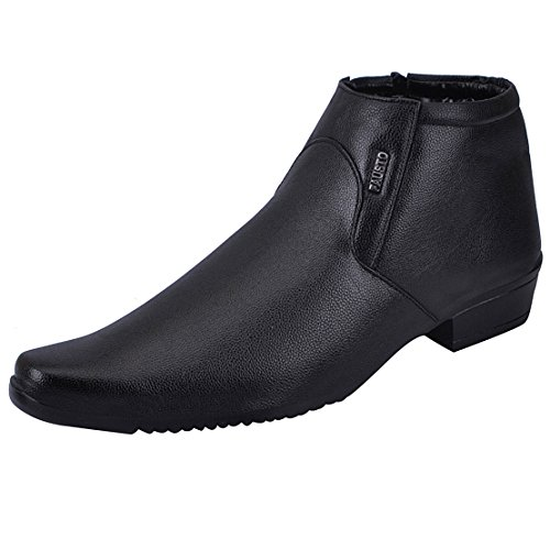 Fausto 1670-42 Black Men's Formal Zipper Shoes