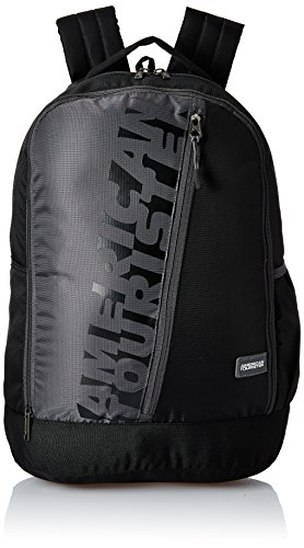 American Tourister 28 Ltrs Black Casual Backpack (AMT Twist Backpack 01 – Black)