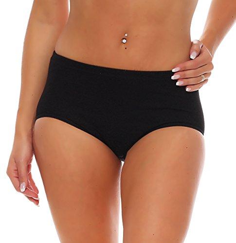 3er Pack Damen Slips ohne Seitennähte (Schlüpfer, Unterhose) Nr. 408 Schwarz