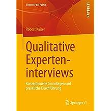 Qualitative Experteninterviews (Elemente der Politik)