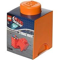 Preisvergleich für LEGO Lizenzkollektion 40011753 - The Movie stapelbare Aufbewahrungsbox, 1 Noppe, orange
