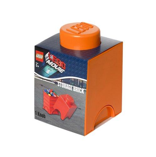 Preisvergleich Produktbild Lego Lizenzkollektion 40011753 - The Movie stapelbare Aufbewahrungsbox, 1 Noppe, orange