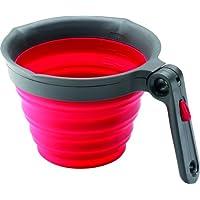 Kai Europe CUP-520CH - Misurino in silicone Chef'n Sleekstor, pieghevole, rosso ciliegia