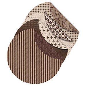 Origami-Papier, Oslo Durchmesser: 10 cm, 80 gDoppelseitig - mit Druck aus der Vivi Gade Design Serie - Packung mit 4 Design á 50 Blatt Origami-papier, 2-seitig