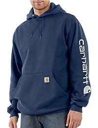 Carhartt Midweight Signature Sleeve Logo Hooded Sweatshirt - Kapuzenpullover (XXL, dunkelblau)