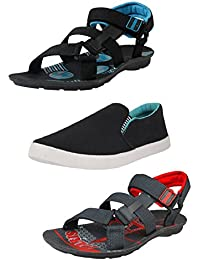 Tempo Men's Combo Pack of 2 Casual Sandals & Shoes