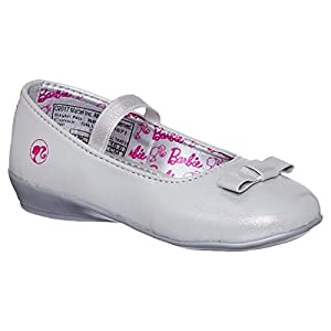 Barbie Kids Girls Silver Color Ballerina(Size -5)