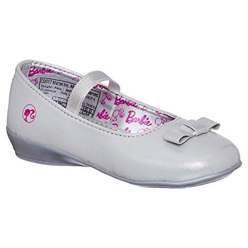 Barbie Kids Girls Silver Color Ballerina(Size -9)