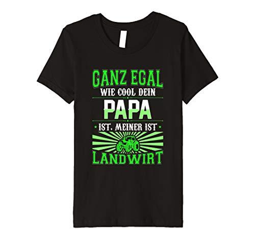 Kinder Landwirt Shirt Trecker Egal wie cool dein Papa ist